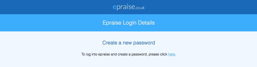 Parent email asking to set password
